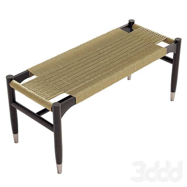 Century Tristan Woven Bench