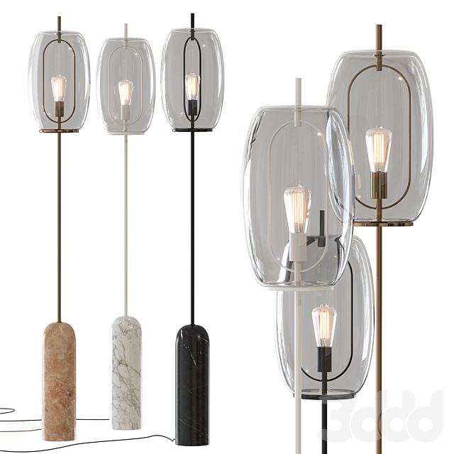 Capullo Glass Floor Lamp CB2 Exclusive