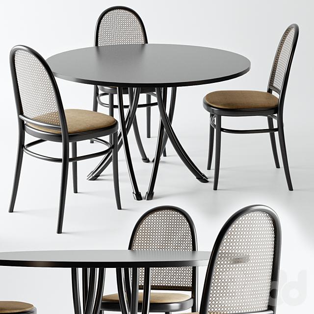 Стол и стулья от фирмы - Gebrueder Thonet Vienna
