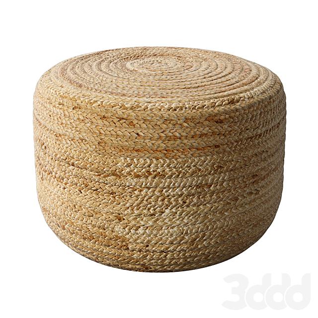 Braided Jute pouf