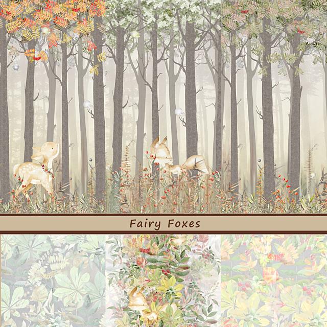 Дизайнерские обои Fairy Foxes
