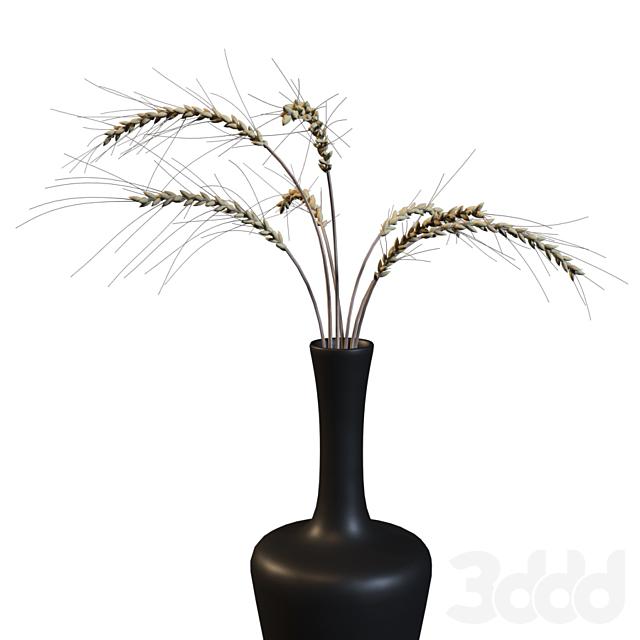 Декоративный букет из колосьев пшеницы #2