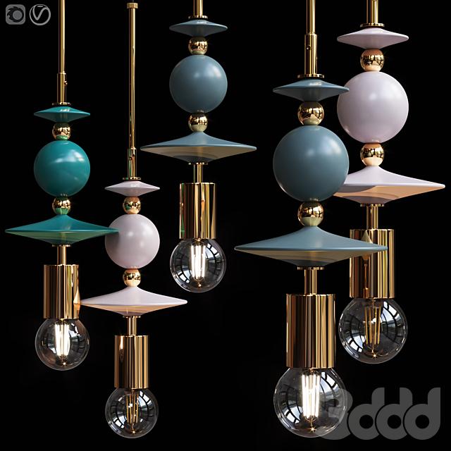 Подвесной светильник Beaded Pendant Lamp Saucers