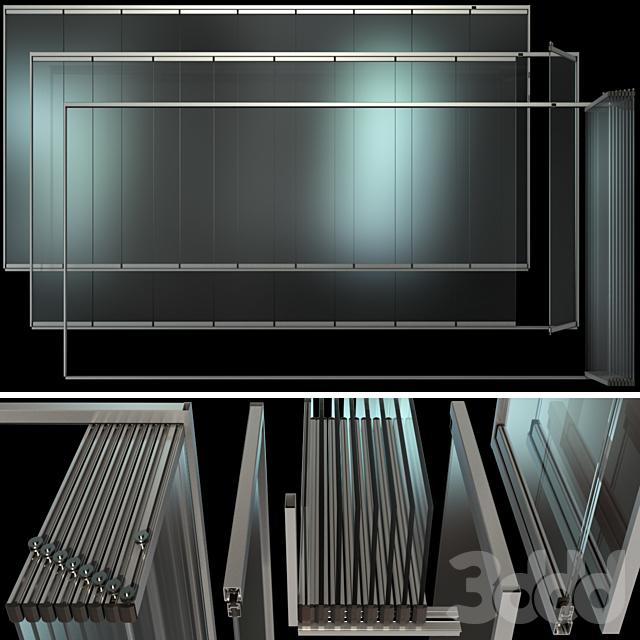 Раздвижная стеклянная Перегородка / Glass Sliding Partition Wall