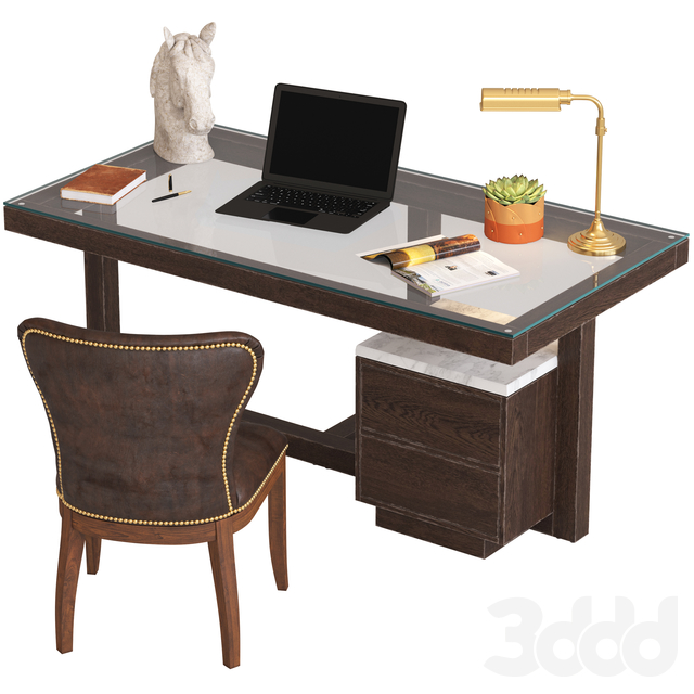 Coco Republic Toledo Desk and Richmond Chair