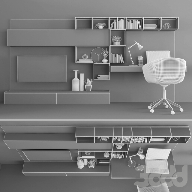 TV stand & workplace set 089