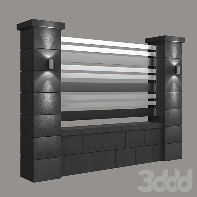 Fence_modern_black