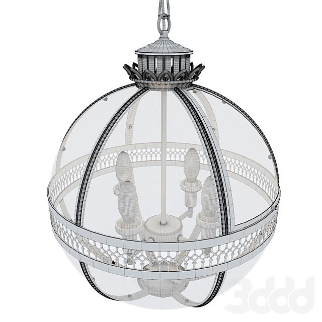 Светильник потолочный от Garda Decor - золотой K2KM0115P-4MGOLD