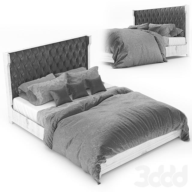 Bedroom Palisade Upholstered Shelter King Bed