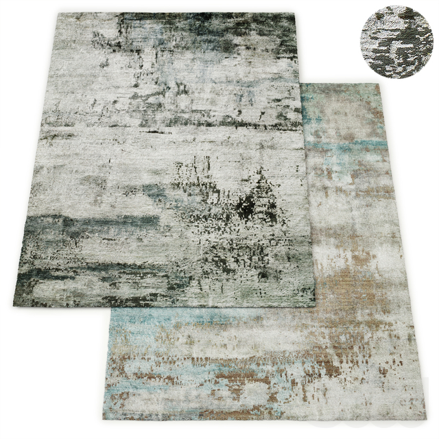 Lyra Hand-Knotted Silk Rug RH Collection