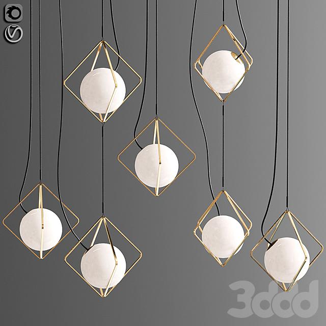 Jack O Lantern Single Pendant - Sphere Only