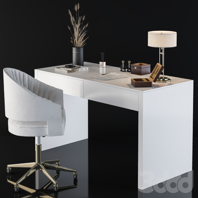 Office Desk for Home simple white