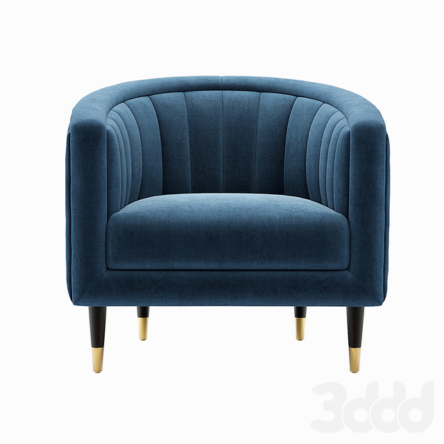 Fluted Velvet Occasional Chair