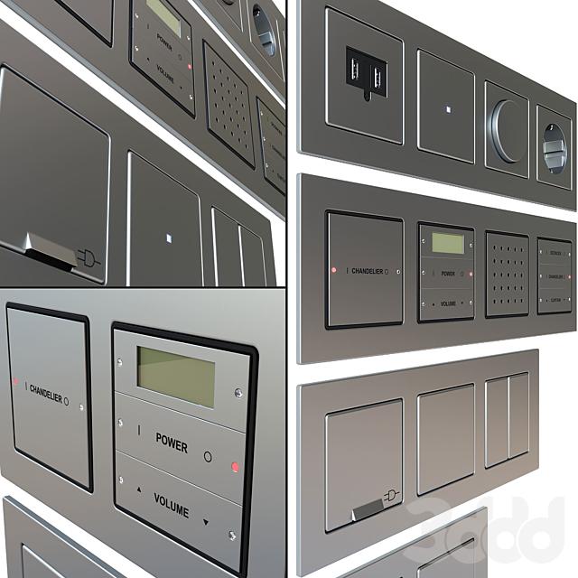 Gira E22 - набор розеток и выключателей