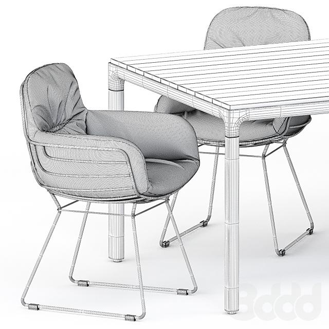 LEYASOL LOW, HIGH by freifrau, ILLUM table by Tribu