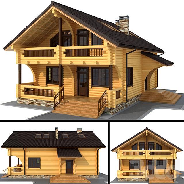 Бревенчатый дом (оцилиндрованное бревно)