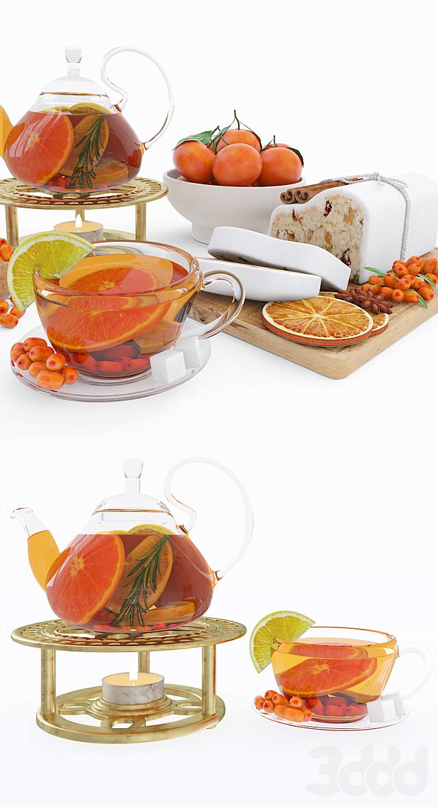 Fruit tea & tangerines