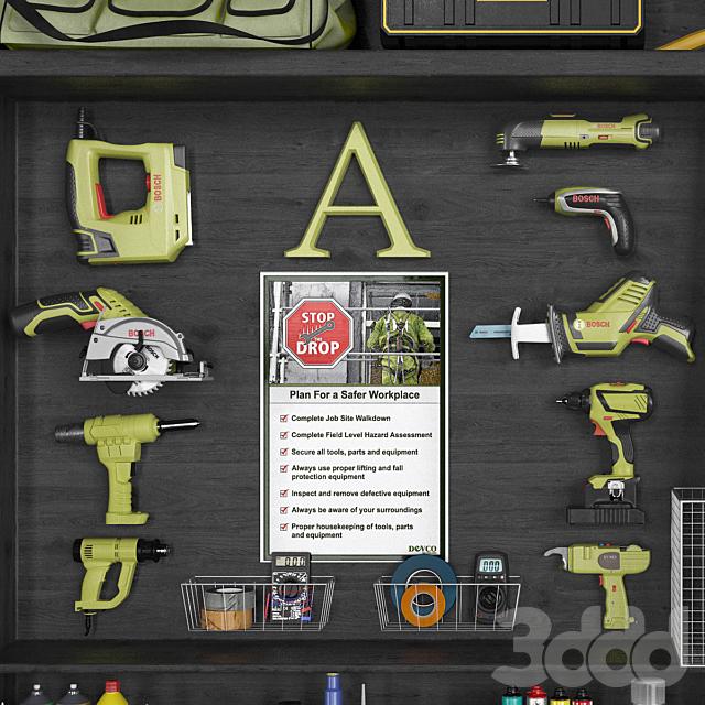 garage tools set 10