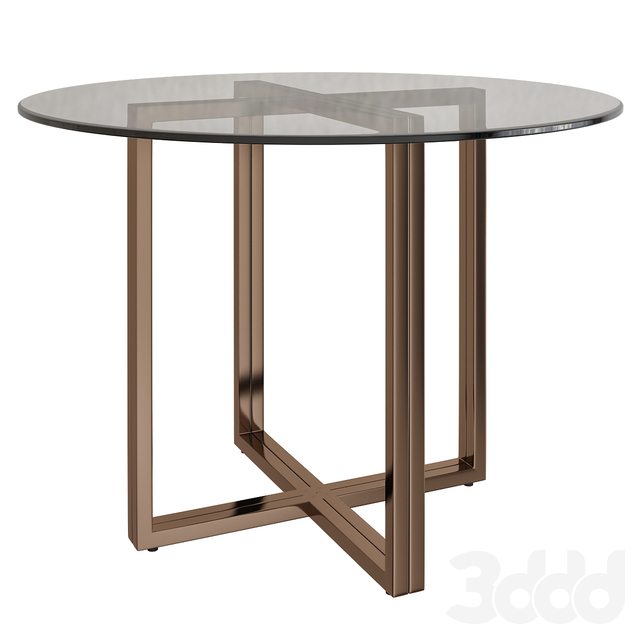 SILVERADO BRASS 47 ROUND DINING TABLE