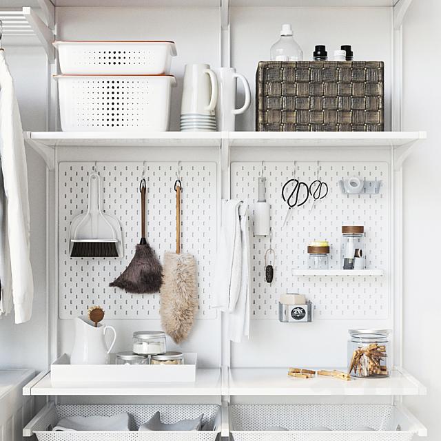 IKEA настенный модуль Альгот 13 /стиральная машина