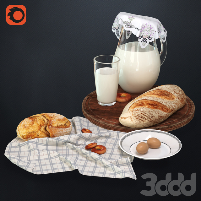Milk with bread