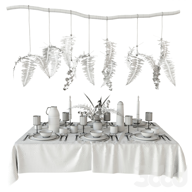 Tableware with fern