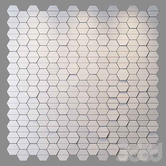 Деревянная панель Hexagon
