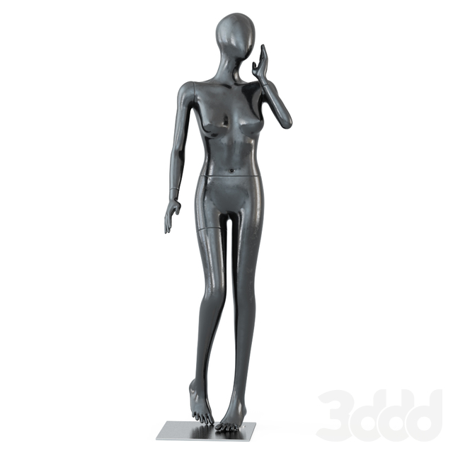Female black mannequin in a standing pose 59