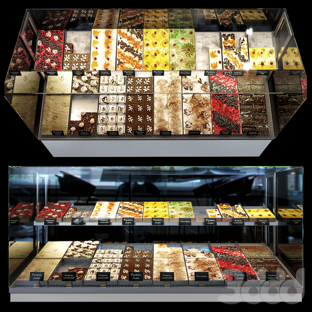Confectionery showcase