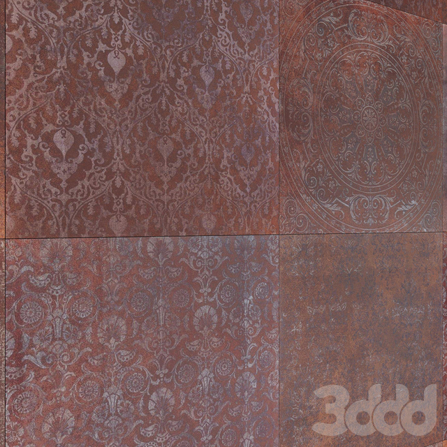 Metallic Ceramic Tile with multitexture Corona&Vray