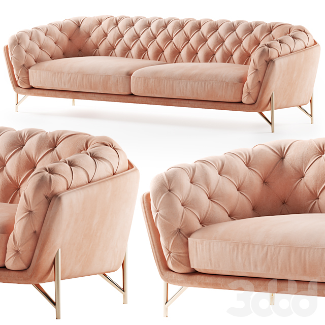 Calia Italia sofa art nouveau