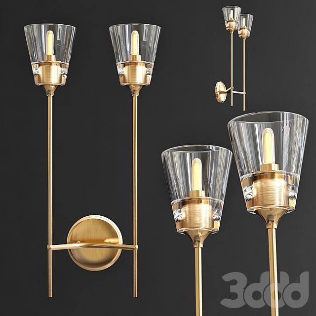 Бра RH Torche De Verre Double wall lamp