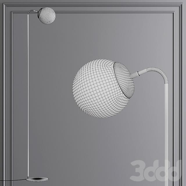 Modo Floor Lamp Black and Cream Glass