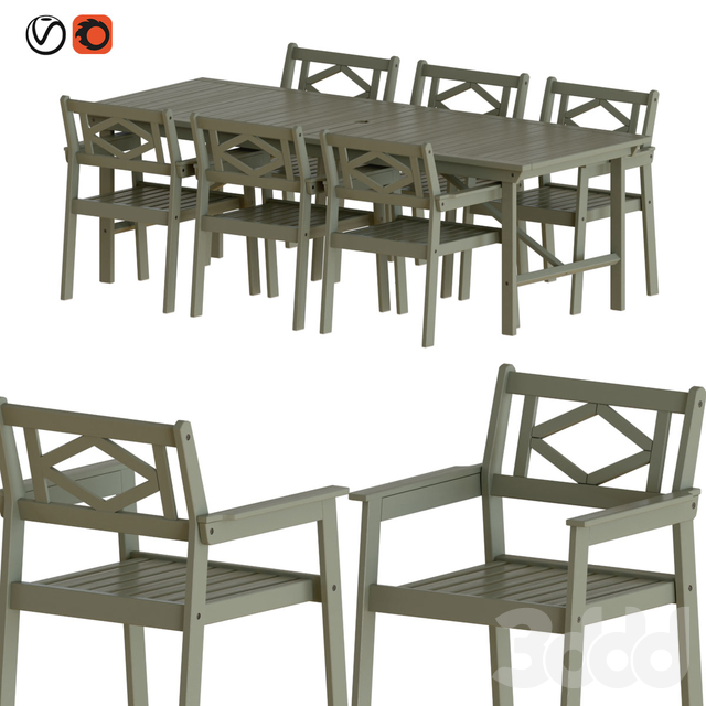 Ikea Bondholmen Table and Chairs Set 1