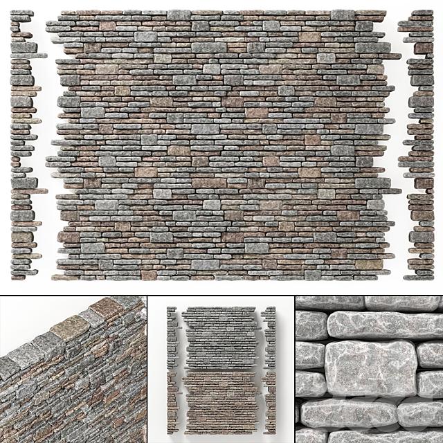 Brick rock facture many part / Кирпич с скалистой фактурой
