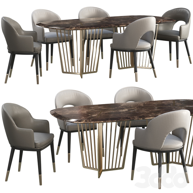 Dinning table Wooddi Alfieri+chair Wooddi Toledo