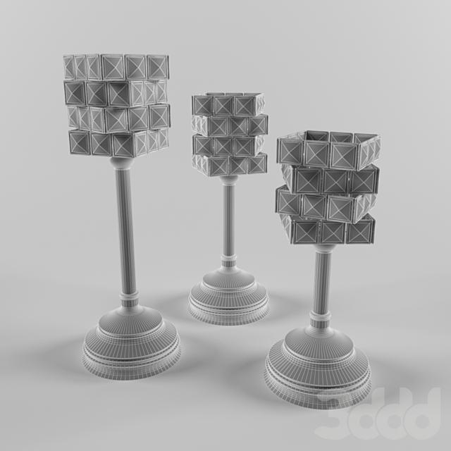 candlestick set(ethan allen)