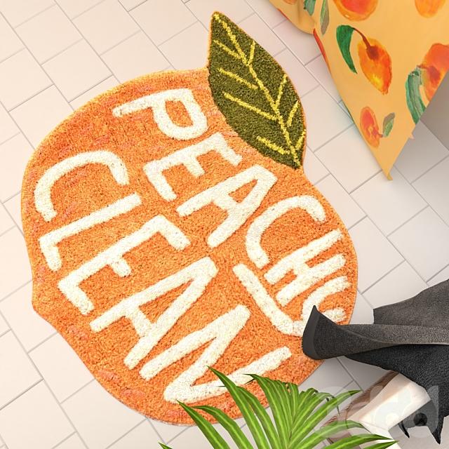 Peachy Clean Bath Mat Urban Outfitters