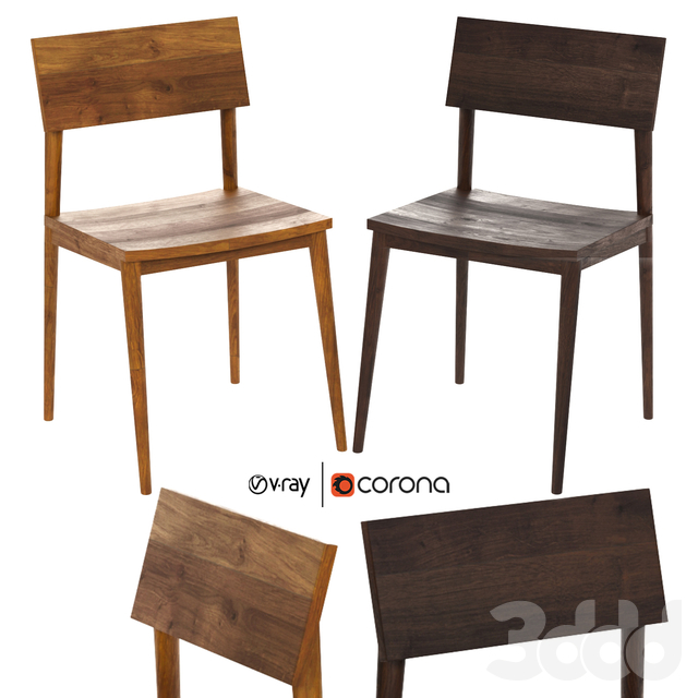 Wood dining chair by Industry west