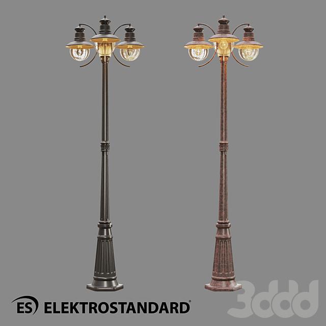 ОМ Уличный трехрожковый светильник на столбе Elektrostandard GL 3002F/3 Talli F/3