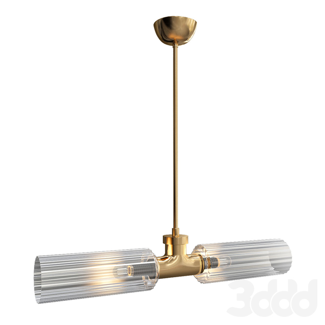 Gold_and_Clear_Glass_Pendant_Lamp