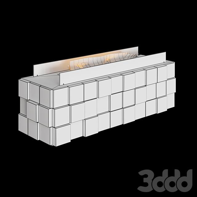 OM - Напольный биокамин Tetris floor