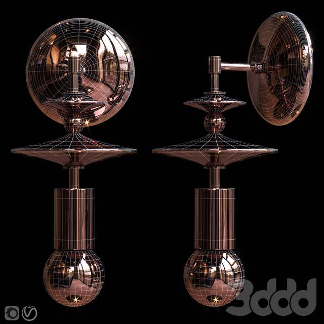 Бра Beaded Saucers Sconce