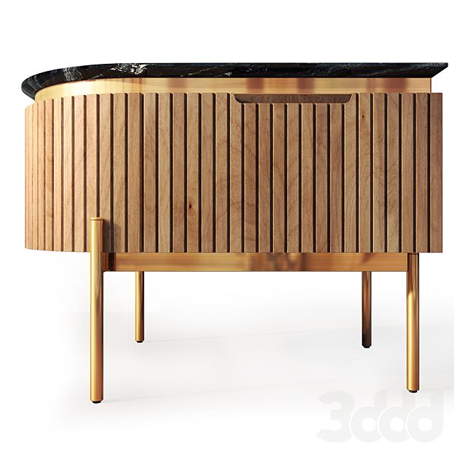 Комод  и тумба прикроватная Tesla wooden. Nightstand, sideboard by Medusa Home