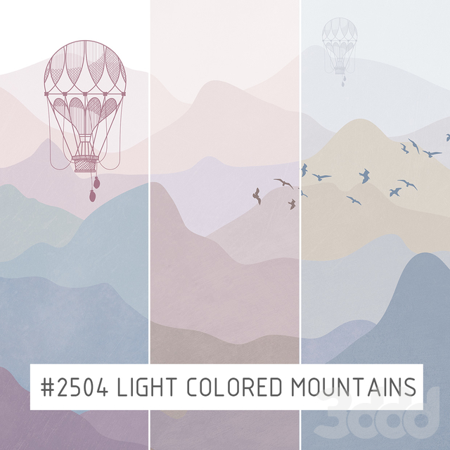 Creativille | Wallpapers | 2504 light colored mountains