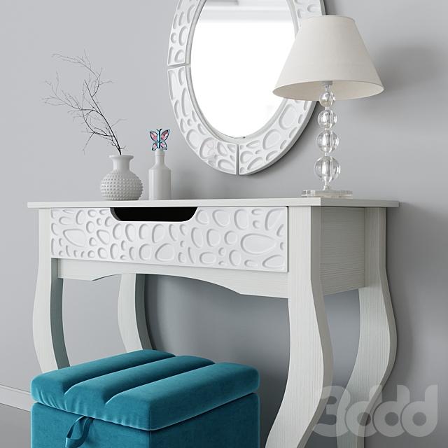 Туалетный стол Wyspaa с зеркалом Wyspaa Hoff