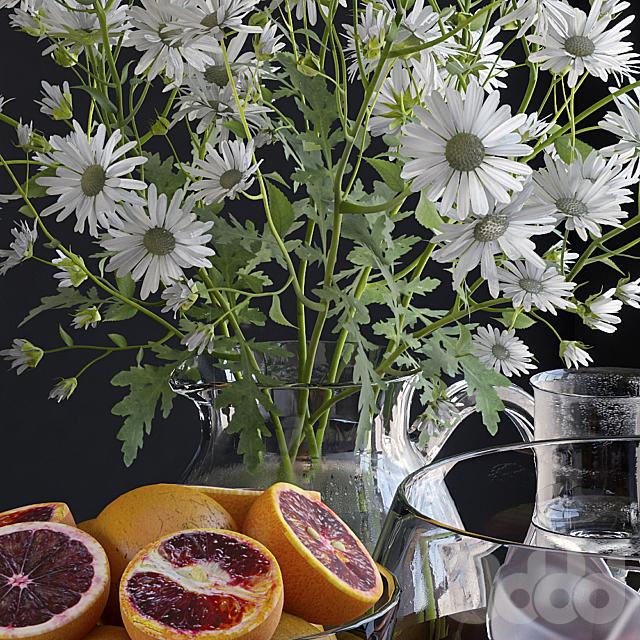 Декоративный набор с грейпфрутами