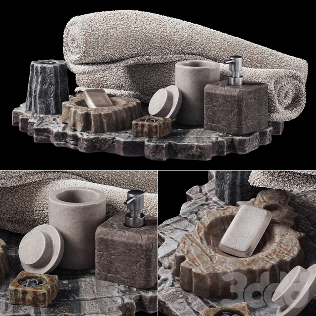 Batroom decor stone soap n1 / Декор для санузла мыльница из камня