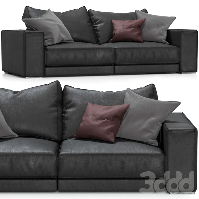 Budapest Leather Sofa by Baxter