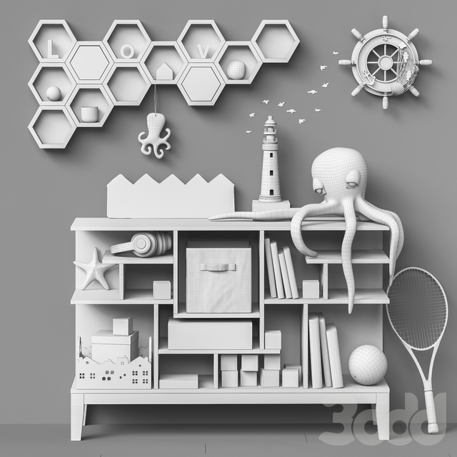 Toys and furniture set 71  (2 part )